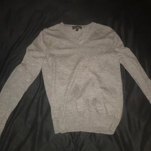Express gray sweater v neck